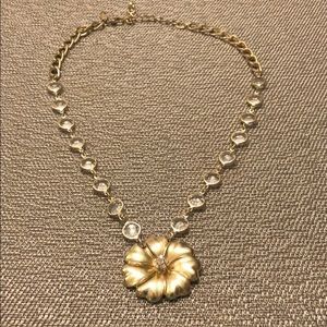 Ann Taylor Gold Flower Necklace